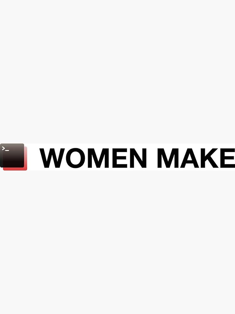 Women Make rectangular logo + text by womenmake
