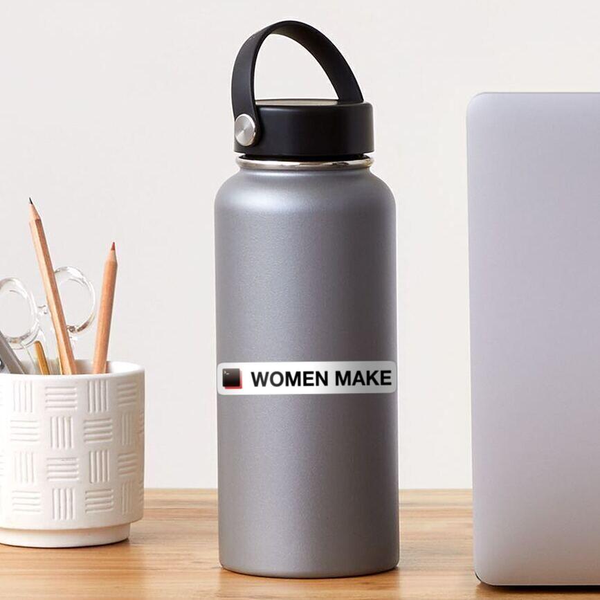 Women Make rectangular logo + text Sticker