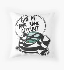 Bank Robber BMO Throw Pillow