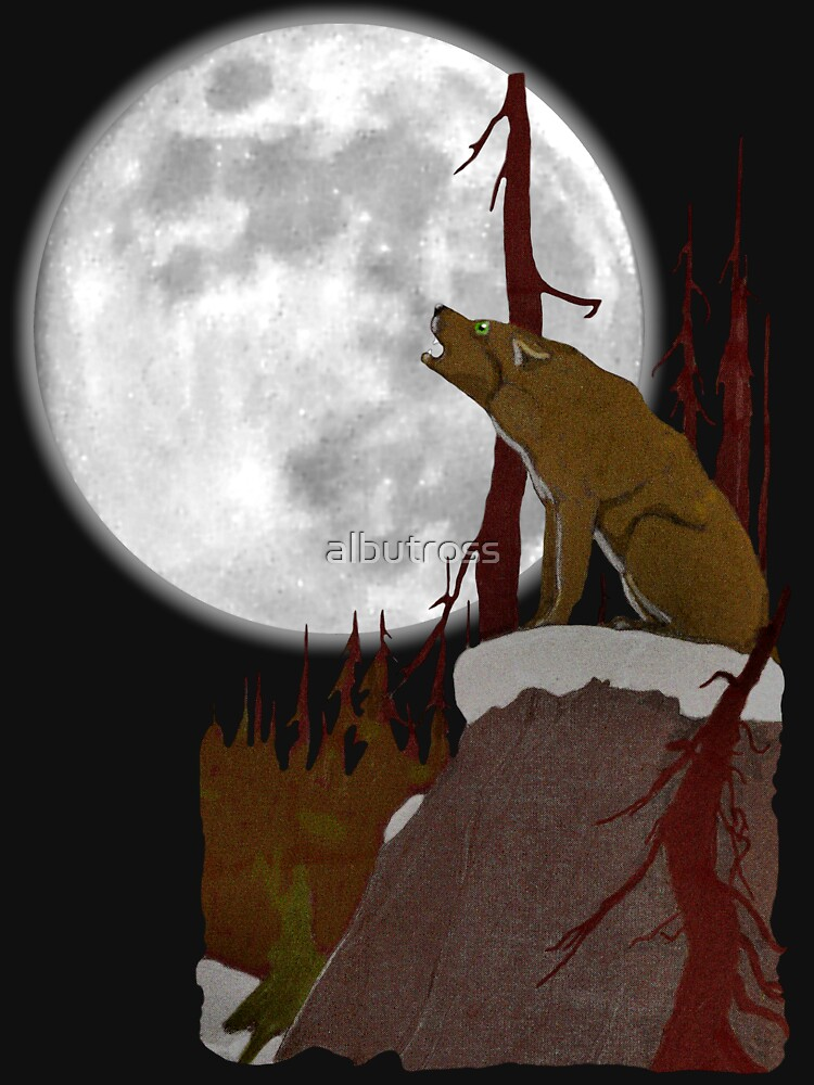Wolf singing to the Moon. by albutross