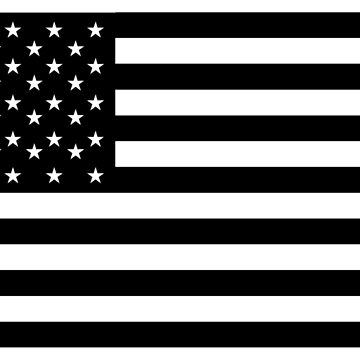 BLACK ONLY, American Flag, STARS & STRIPES, USA, America by TOMSREDBUBBLE