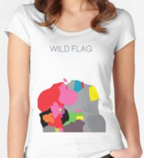 WILD FLAG Women's Fitted Scoop T-Shirt