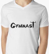 Camiseta para hombre de cuello en v Gimnasta, Gimnasia