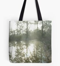 in the misty morning Tote Bag