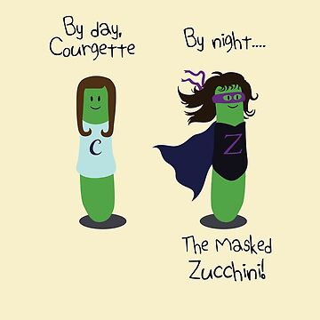 Courgette and The Masked Zucchini: double-life of a vegetable superhero by jezkemp