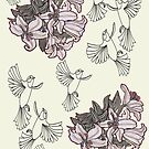 Birds In Flight & Lillies by MagsWilliamson
