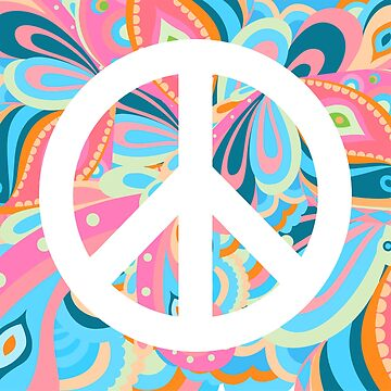 Colorful Peace Sign by Mommylife