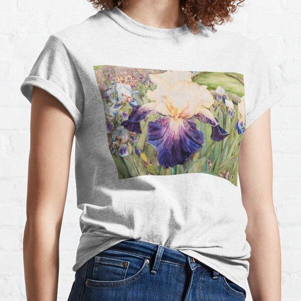 Iris Garden Watercolor Classic T-Shirt
