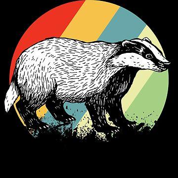 Badger wild animal by GeschenkIdee