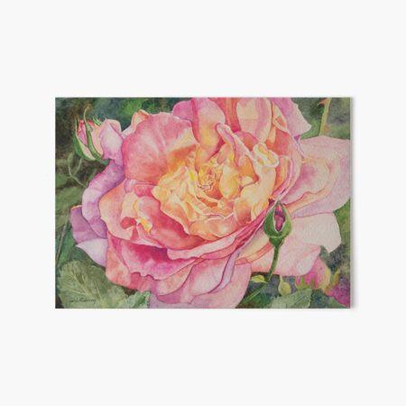 Elizabeth Rose Watercolor Art Board Print