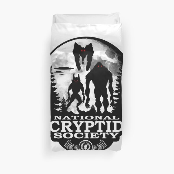 Bigfoot, Dogman, Mothman, UFO's; National Cryptid Society Duvet Cover