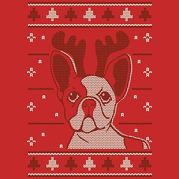Christmas Dog Reindeer by Mommylife
