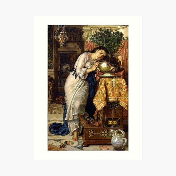 Isabella and the Pot of Basil - William Holman Hunt Art Print