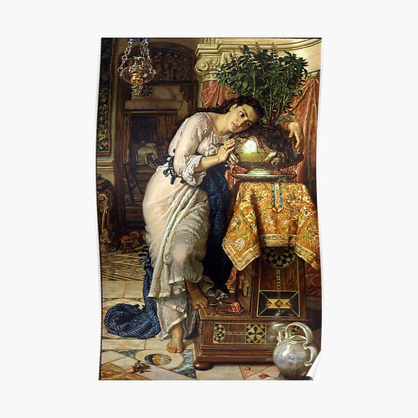 Isabella and the Pot of Basil - William Holman Hunt Poster