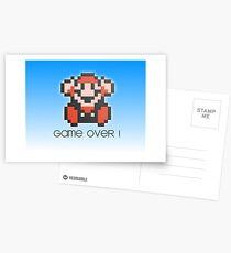Game Over Design Postcards