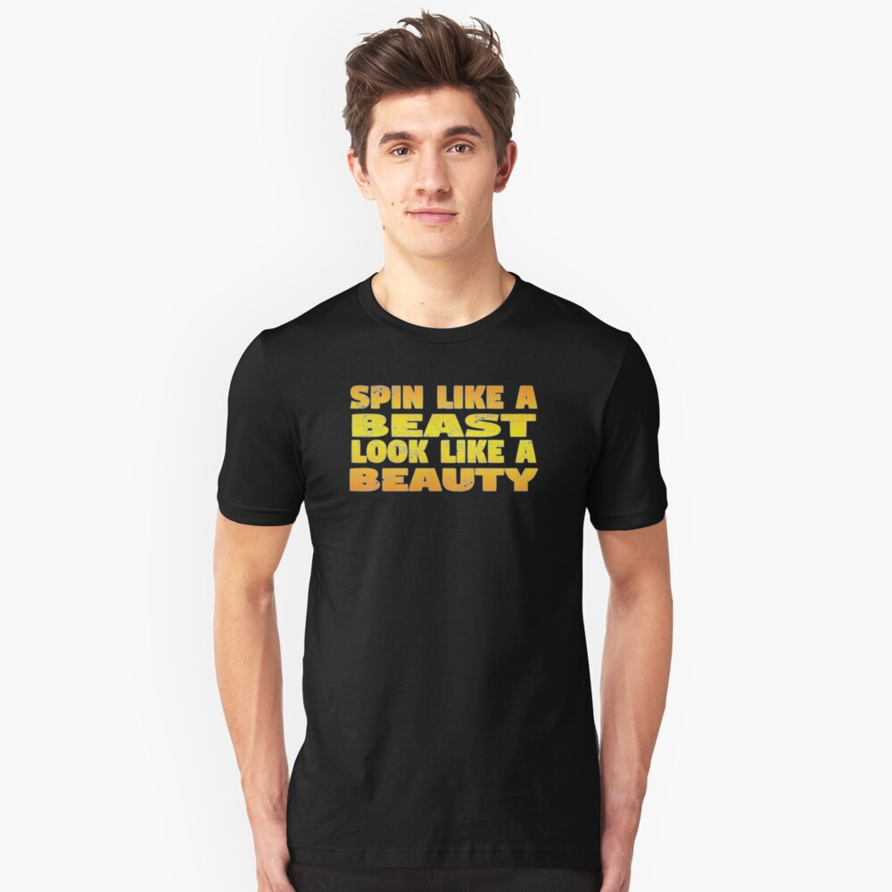 Color Guard Funny Design - Spin Like A Beast Look Like A Beauty Unisex T-Shirt Front