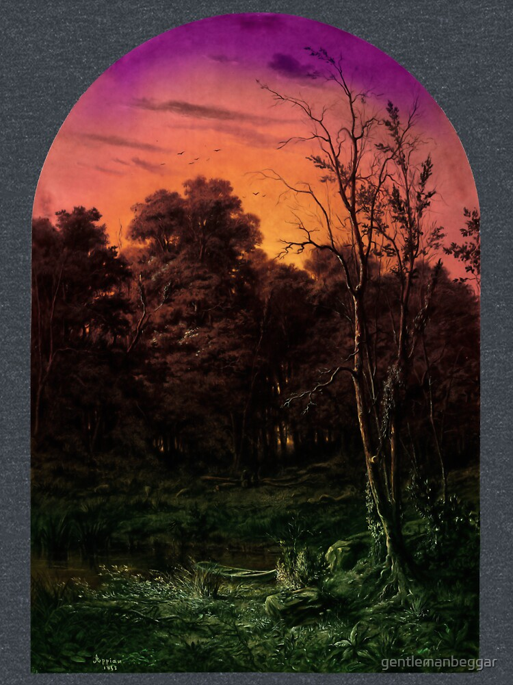 Forest Landscape Near a Pond by gentlemanbeggar