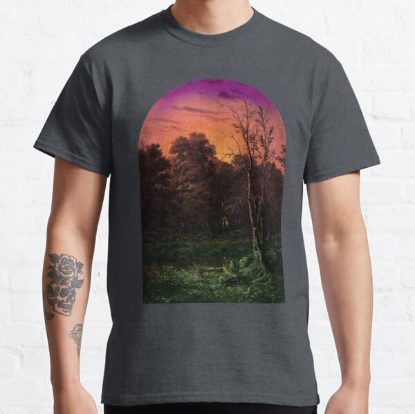 Forest Landscape Near a Pond Classic T-Shirt