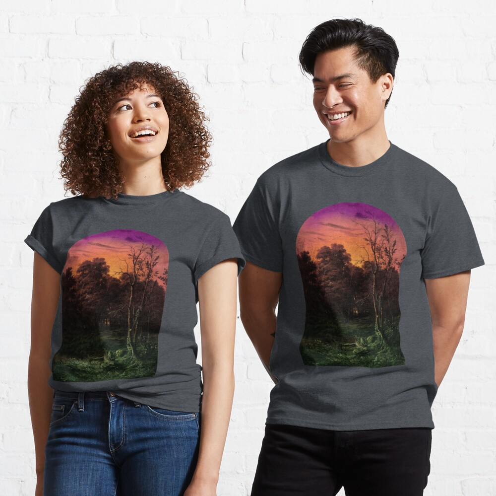 Forest Landscape Near a Pond Classic T-Shirt