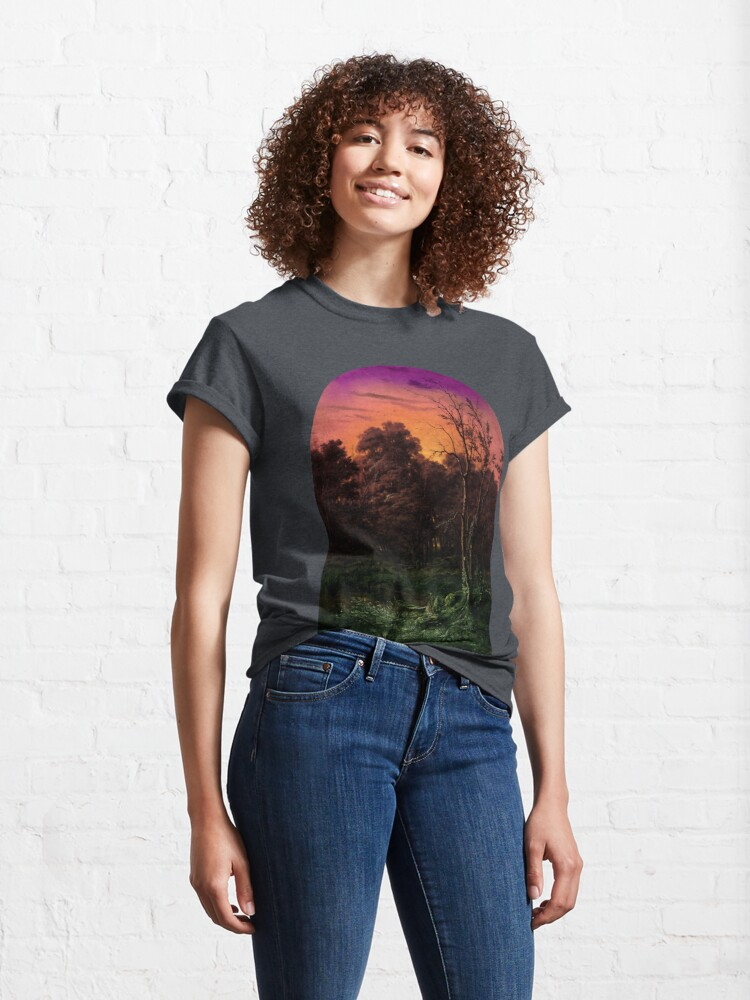 Alternate view of Forest Landscape Near a Pond Classic T-Shirt