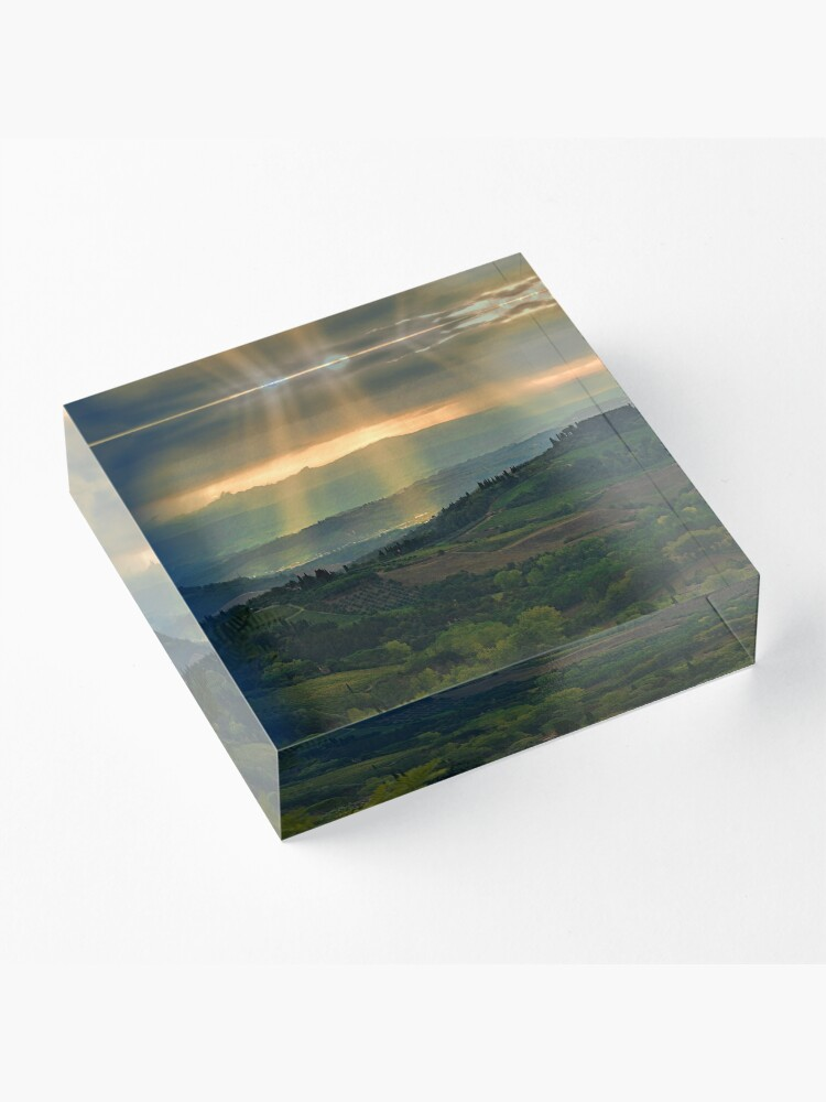 Alternate view of Rays from Heaven Acrylic Block