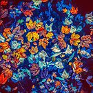 Leaves in Blues and Orange by pinkarmy25