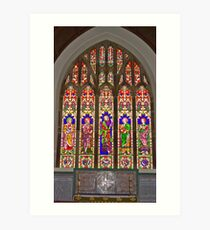 Window #2 East Witton Church Art Print