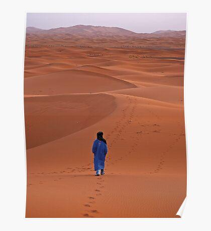 Sunrise in Erg Chebbi on edge of the Sahara Poster