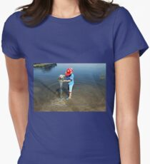 Best Fun Ever - Child Playing In Water Women's Fitted T-Shirt