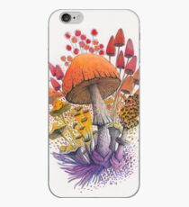 Mushroom Composition #1 | Watercolor Illustration iPhone Case
