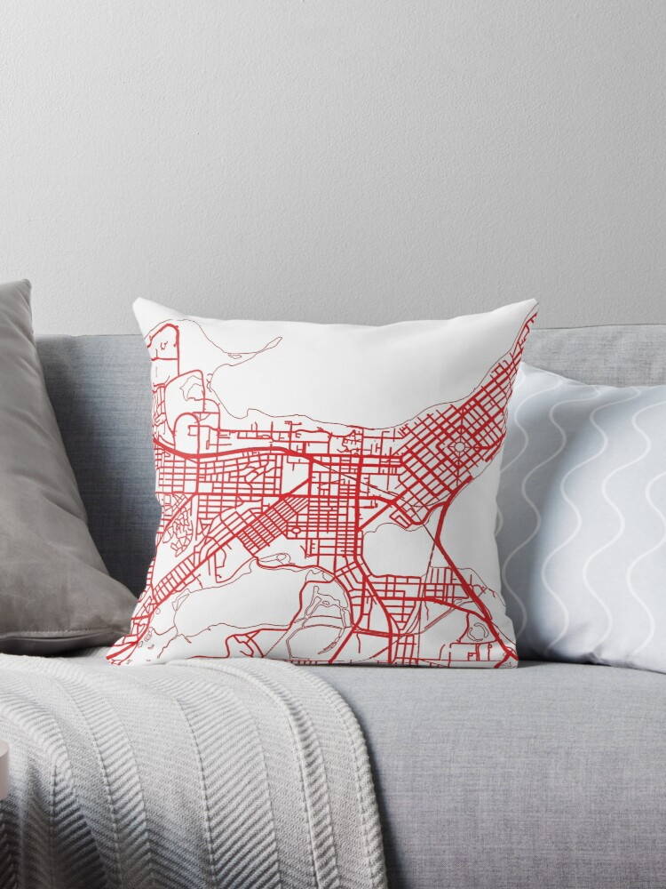 Uw Madison Campus Map Throw Pillows By Zsonn Redbubble