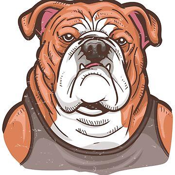 Bulldog Illustration Olde English Bulldog by UGRcollection
