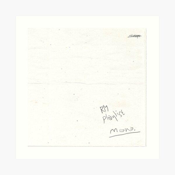 RM mono. Art Print