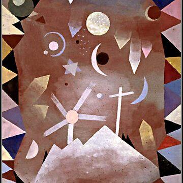 Klee - Uber Bergeshohe, 1917 abstract watercolor by virginia50