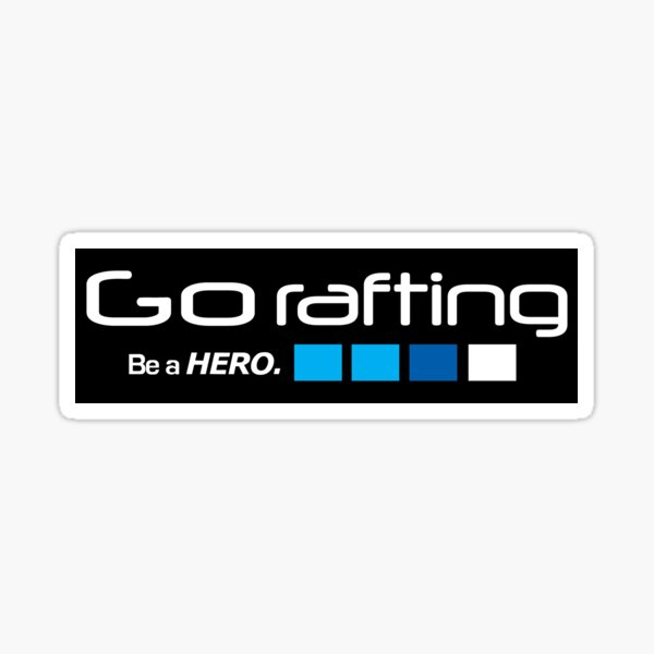 Whitewater rafting Sticker