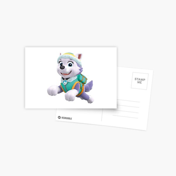 Paw Patrol Everest Jumping Postcard