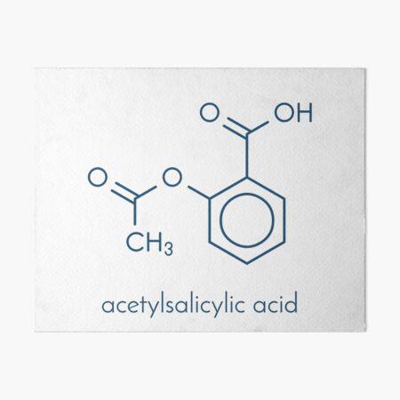 Acetylsalicylic acid or aspirin drug molecule Art Board Print