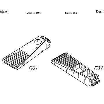 Lego Brick Separator Patent (Black Vs) by mecanolego