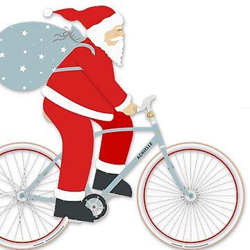 Santa on a bicycle by AKindChap