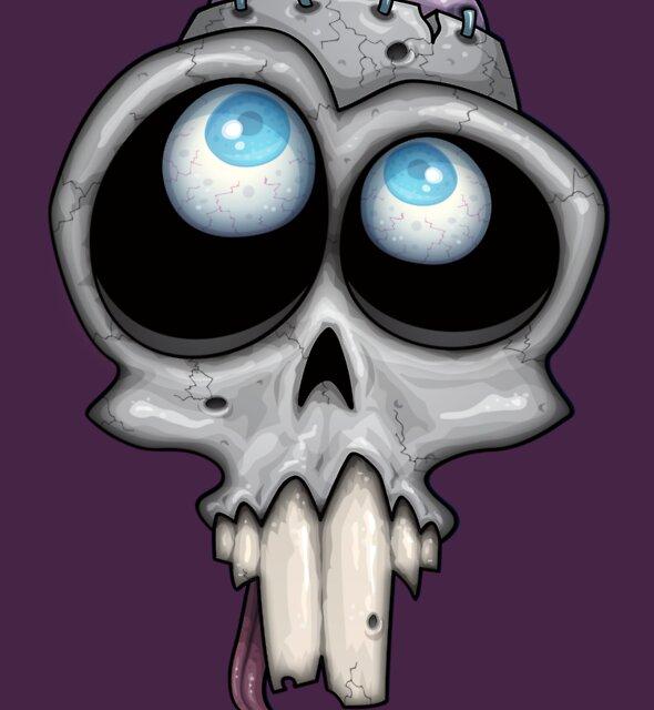 Zombie Skull by fizzgig