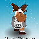 Merry X-Mas Card...Herbi the Reindeer by Yvonne Müller