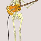 Skeleton Guitarist by Ancell