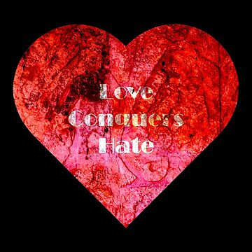 Love conquers hate stone heart by craig777red
