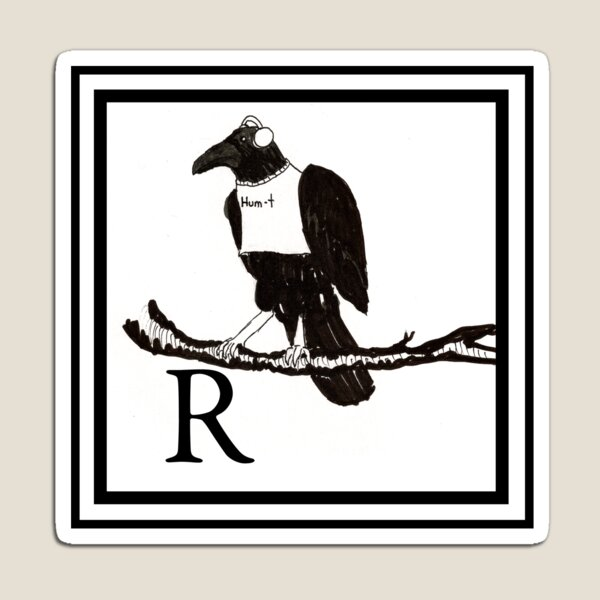 R is for Raven Magnet