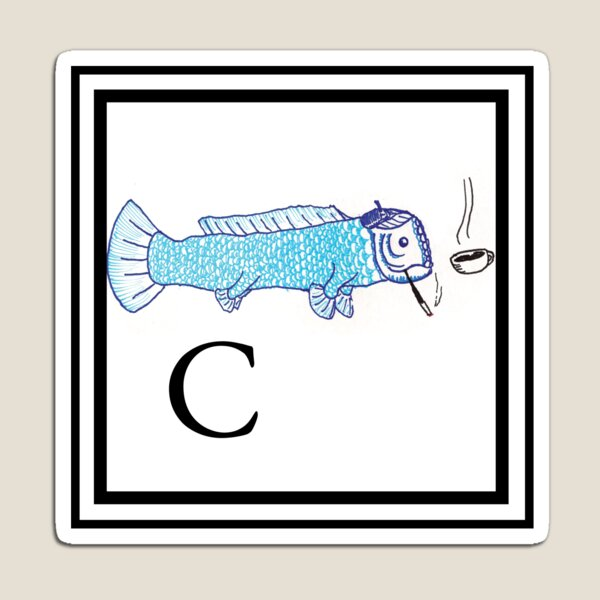 C is for Coelecanth  Magnet