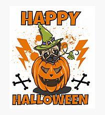 Happy Halloween Pug Fotodruck