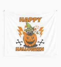 Happy Halloween Pug Wandbehang