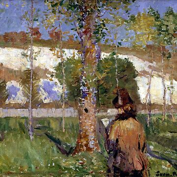 John Peter Russell Madame Sisley on the banks of the Loing at Moret by pdgraphics