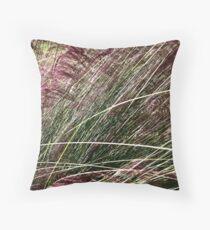 Purple Grasses Majesty Throw Pillow