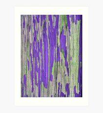 Rustic weathered wood in purple Art Print